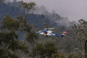 A police helicopter has joined the search