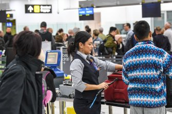 Airport security staff could be among those who should be vaccinated first.