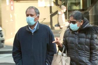 Kandasamy and Kumuthini Kannan arriving at court on Wednesday.