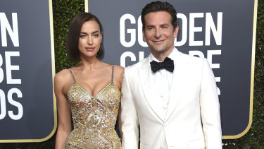 Cooper and Irina Shayk at the  Golden Globe Awards in Januaruy.