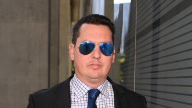 Ipswich lawyer Cameron McKenzie returns after a break to the District Court in Brisbane.