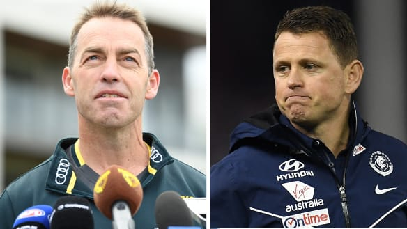 Clarko and Bolts caught up before Sunday's clash