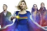 Jodie Whittaker (centre) has announced she will leave Dr Who next year.