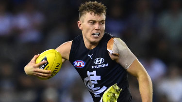 Patrick Cripps in action against the Dockers.