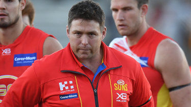Gold Coast Suns coach Stuart Dew.