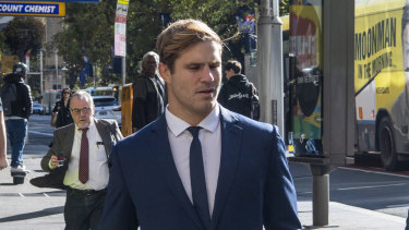 Jack de Belin arrives at court this week.
