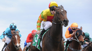 Good Judge: Tim Clark chased hard to get the ride on Master Ash.