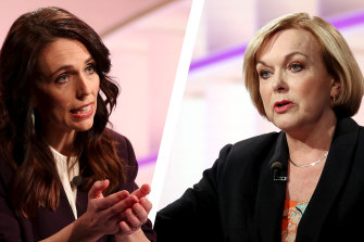 NZ PM Jacinda Ardern faces her challenger Judith Collins at the ballot box on October 17.