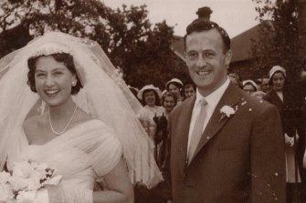 Fred and Dawn Kenyon's wedding, December 14, 1957.