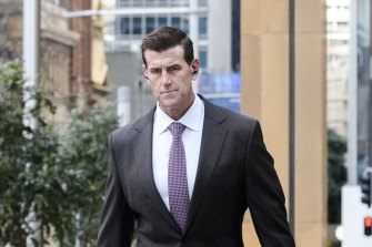 Ben Roberts-Smith arriving at the Federal Court in Sydney on Wednesday.