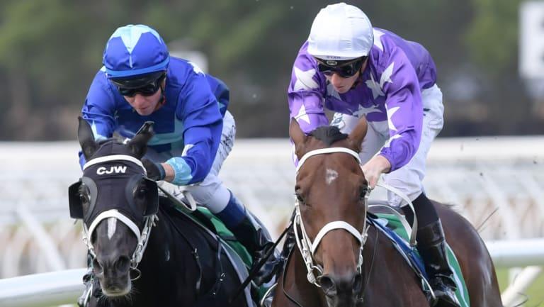 Winner: James McDonald (right) on Cormac.