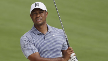 Tiger Woods' back is troubling him.