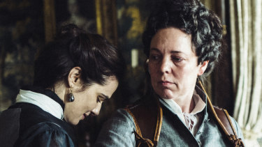 Rachel Weisz (left) and Olivia Colman in The Favourite.