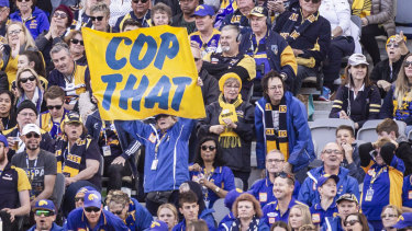 The AFL says there is no crackdown on fan behaviour.