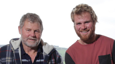 Father and son Ross and Andy Powell tragically died while rescuing a tourist near Port Campbell on Sunday.