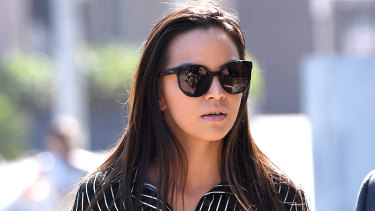 Danielle Lee arrives at the Southport Magistrates Court on the Gold Coast on Tuesday.