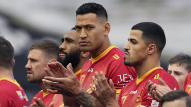 Israel Folau has requested a release based on compassionate grounds from Catalans Dragons in the Super League.