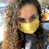 Maddy Scarf wearing a Tecmask