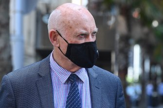 Former Labor minister Ian Macdonald arrives at the NSW Supreme Court in Sydney on 5th February, 2021.