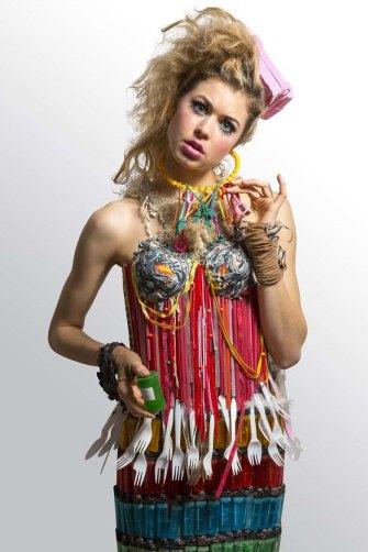White Trash by Marina DeBris, worn by model Hannah Kat Jones.