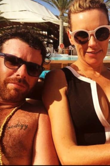 In happier times: Phillip De Angelis and Nellie Tilley in Ibiza in 2015.