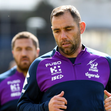 Melbourne Storm captain Cameron Smith is one of Moses's loyal clients.