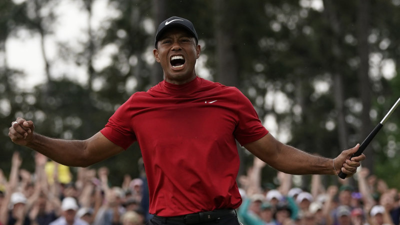 us masters 2019  tiger woods ends 11
