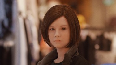 """The android Elli is played by the pseudonymous """"Lena Watson"""", with the aid of a wig and silicon face mask."""