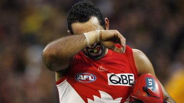 Adam Goodes in 2014.