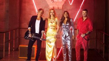 The Voice coaches Keith Urban, Rita Ora, Jessica Mauboy and Guy Sebastian.