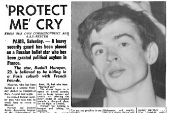 'Protect me cry': from the front page of The Sydney Morning Herald, June 18, 1961