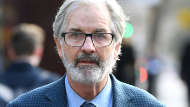 John Jarratt arrives at court on July 3.