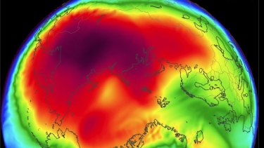 <p>Arctic temperatures in February 2018 are averaging well above normal, and peaking up to 25 degrees higher than normal.</p>
