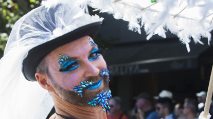 Hot to trot: Participants soak in the sun at Midsumma Pride March