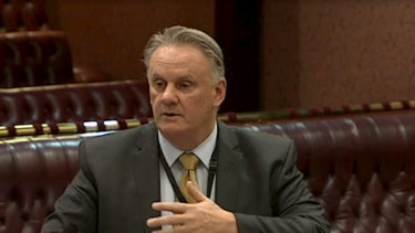 Mark Latham in Parliament last week.