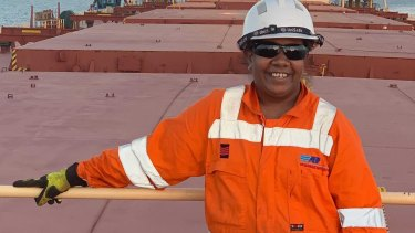 Vicki Morta works on a bauxite carrier ship that runs between Gladstone and Gove.