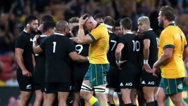 Lachie Swinton is sent off against the All Blacks last year.