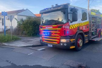 A woman has died and two teenage boys were rescued from a fire.