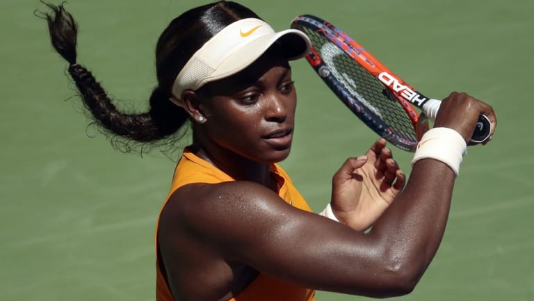 Well beaten: Sloane Stephens.