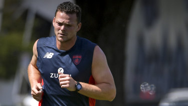 Steven May struggled with his fitness once he arrived at the Demons.