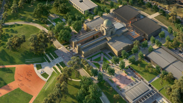 An artist's impression of the planned $498.7 million redevelopment of the Australian War Memorial.