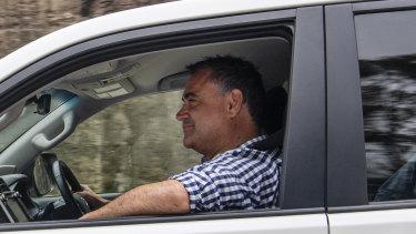 Deputy Premier John Barilaro travels about 1000 kilometres each week across the state.