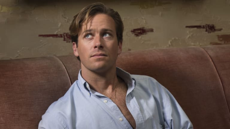 Armie Hammer in Call Me By Your Name.