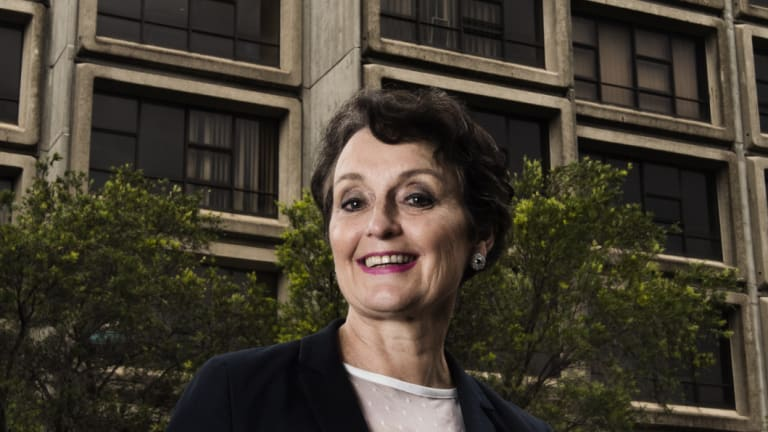 Minister for  Social Housing Pru Goward at the Sirius Building, which was public housing and will be sold to build new social housing elsewhere.
