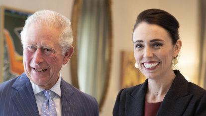 Jacinda Ardern gives Prince Charles native trees