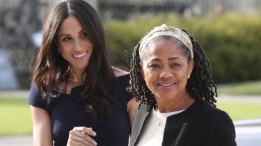 Meghan Markle and her mother, Doria Ragland, arrive at Cliveden House Hotel to spend the night before the wedding.