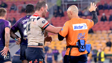 Cordner was taken from the field after a head knock against the Storm earlier this season.