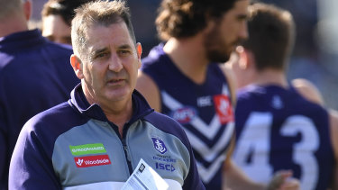 Fremantle's success in 2019 will largely depend on coach Ross Lyon's ability to field a fit team.