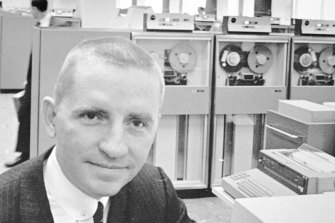 H. Ross Perot, Electronic Data Systems Corp chairman, poses in Plano, Texas. in 1968.