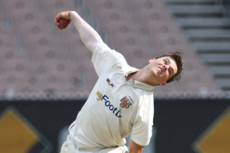 Mitchell Swepson claimed a hat-trick in the Sheffield Shield last month.